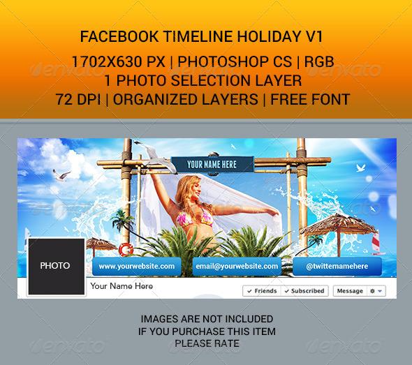 GraphicRiver Facebook Timeline Holiday v1 7001154