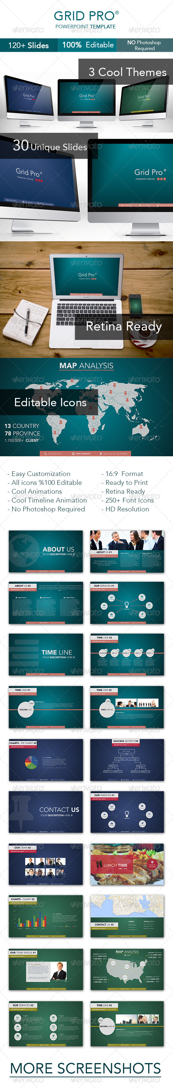 GraphicRiver Grid Pro Powerpoint Template 6977661