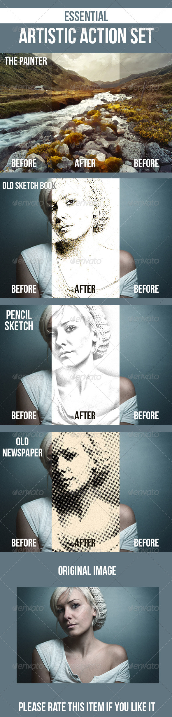 GraphicRiver Pencil Sketch Old Sketchbook Painting Newspaper 7001532