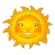 Funny Sun Character on White