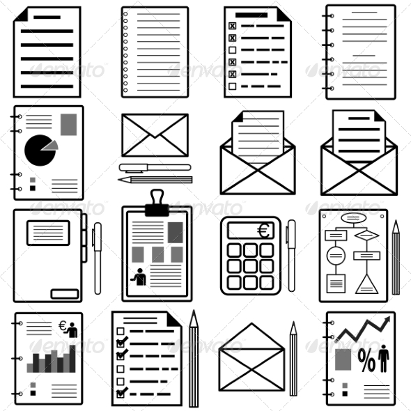 GraphicRiver Statistics and Analytics File Icons 7001681