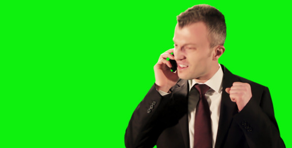 Happy Businessman Phone Call
