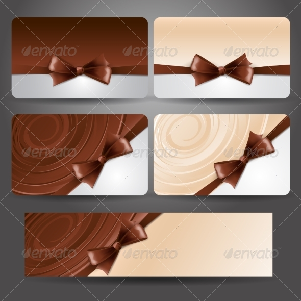 GraphicRiver Gift Card with Chocolate Bow and Whirlpool 7001980