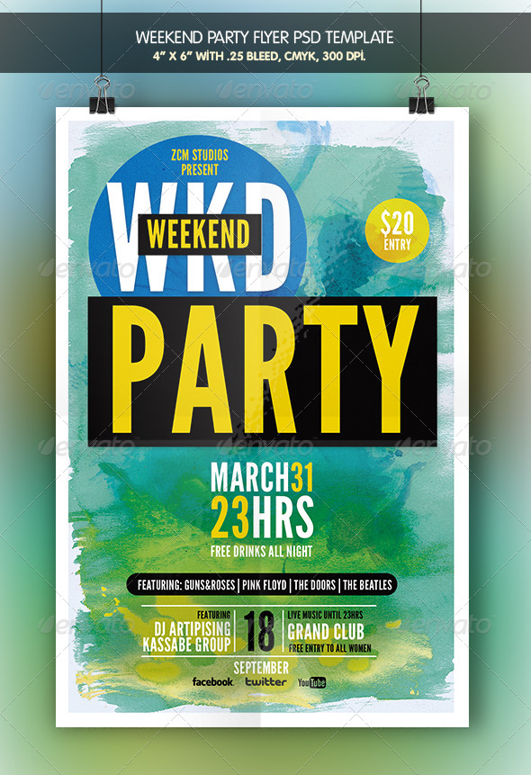 GraphicRiver Weekend Party Flyer Template 7002531