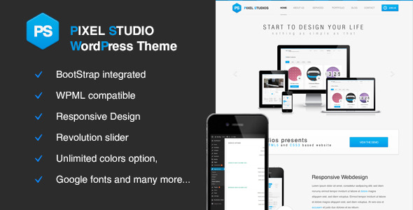 Pixel Studios-Business Responsive WordPress Theme