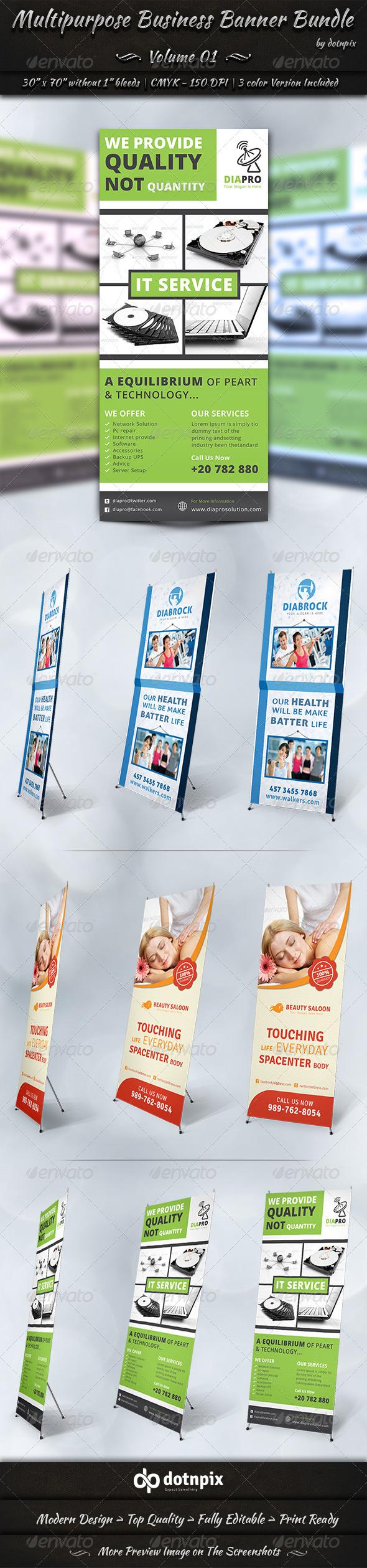 GraphicRiver Multipurpose Business Banner Bundle Volume 1 7002958