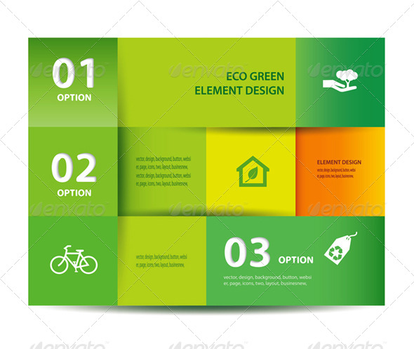 GraphicRiver Vector Paper Eco Element And Design Template 7002959
