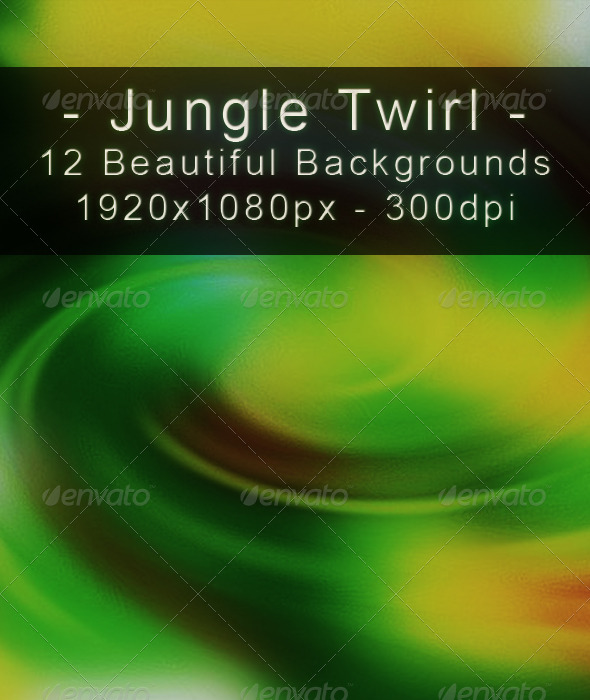 GraphicRiver Jungle Twirl Colored Abstract Backgrounds Set 6977729