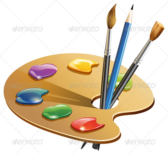 GraphicRiver Paint Brush Illustration 7003251