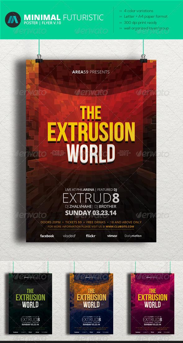 GraphicRiver Minimal Futuristic Poster Flyer V.10 7003372