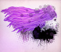 Purple hair girl illustration - PhotoDune Item for Sale