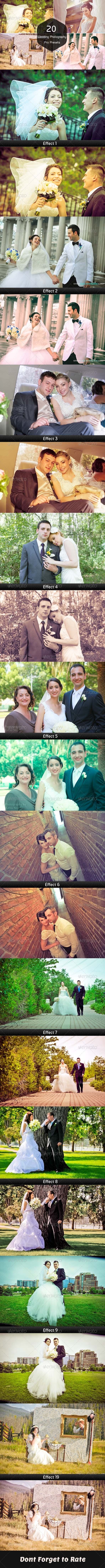 GraphicRiver 20 Wedding Photography Pro Lightroom Presets 7003498