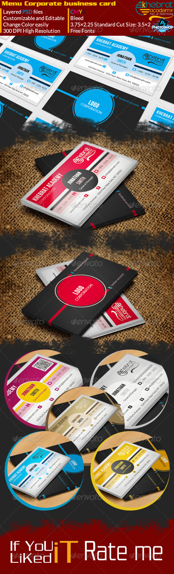 GraphicRiver Menu Style Corporate Business Card V01 7003555