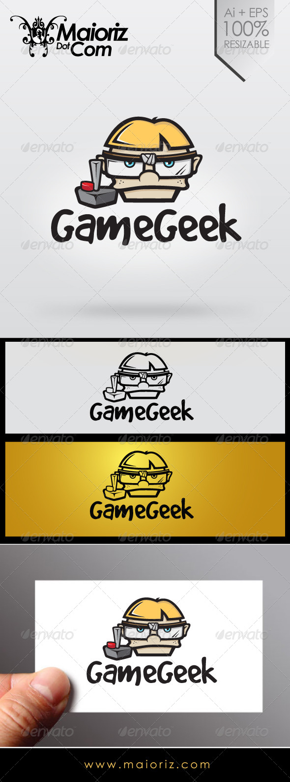 GraphicRiver Game Geek Logo 6989294