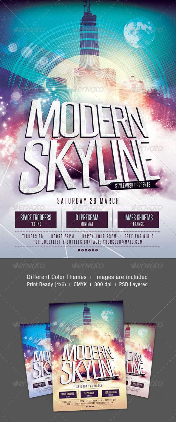 GraphicRiver Modern Skyline Flyer Template 7003616