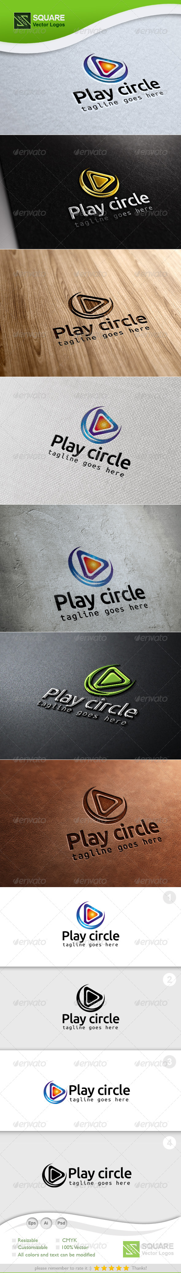 Play, Circle Vector Logo Template - Symbols Logo Templates