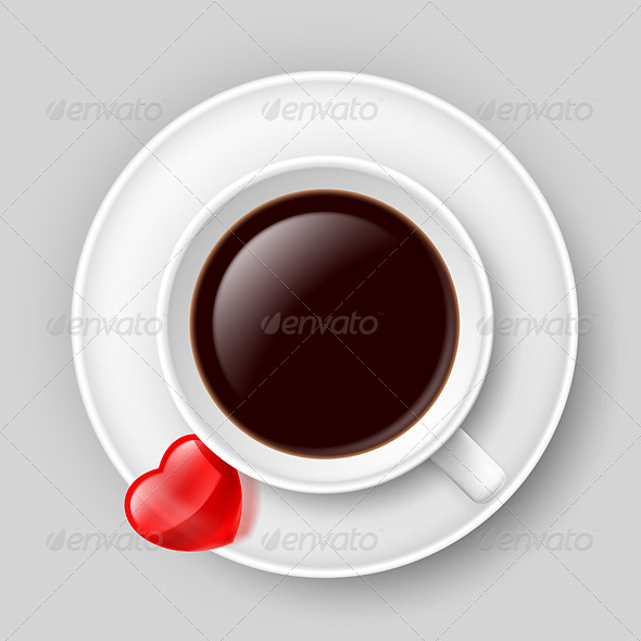 GraphicRiver Cup of Coffee with Heart 7003761