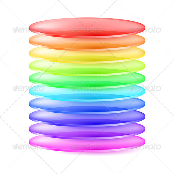 GraphicRiver Abstract Colorful Cylinder 7003764