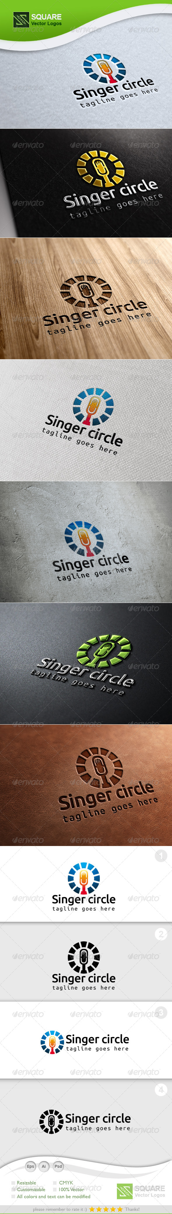 GraphicRiver Mic Circle Vector Logo Template 7003800