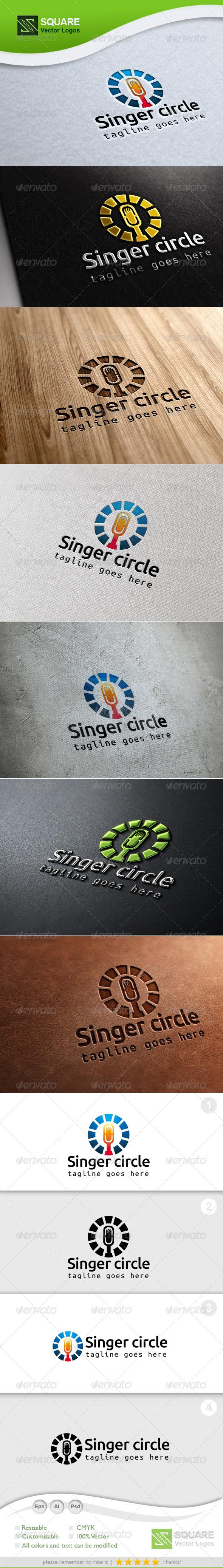 GraphicRiver Mic Circle Vector Logo Template 7003800