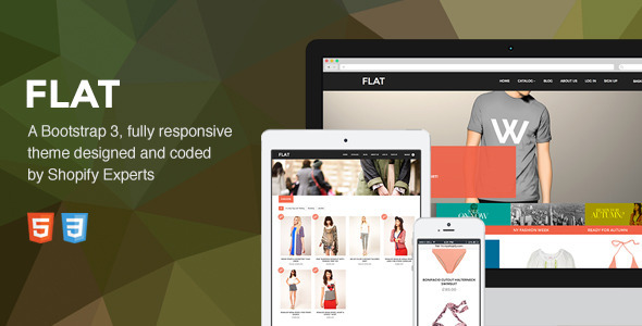Ecommerce Templates - Flat - <p>Responsive Shopify Theme</p>