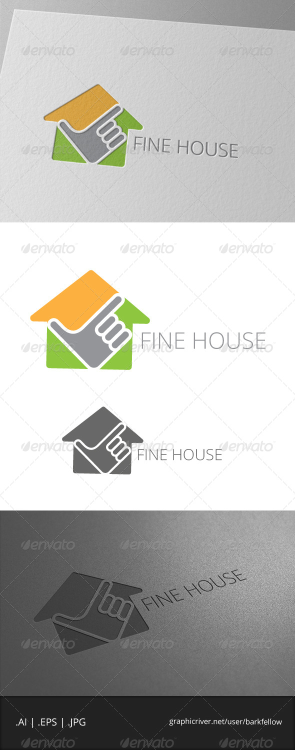 GraphicRiver Fine House Logo 7004330