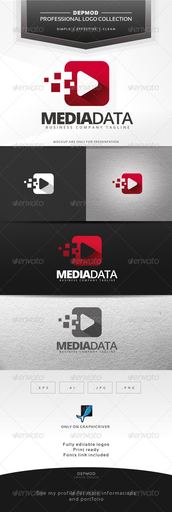 GraphicRiver Media Data Logo 7004546