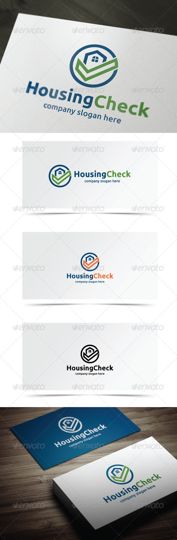 Housing Check - Buildings Logo Templates