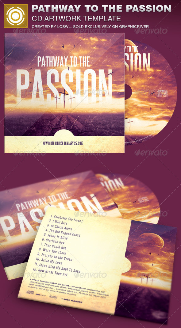 GraphicRiver Pathway to the Passion CD Artwork Template 7004759