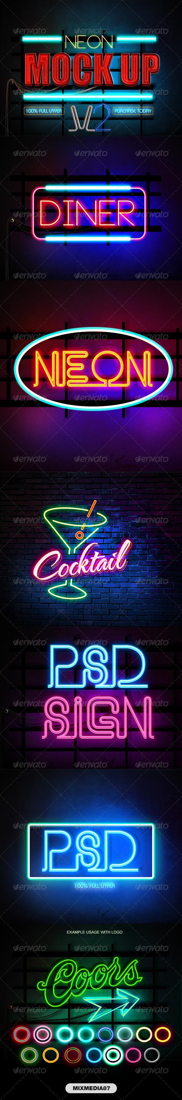 GraphicRiver Neon Styles V2 7004763