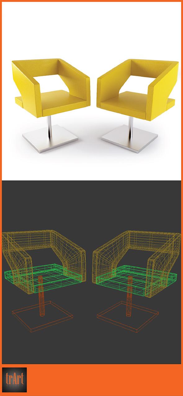 3DOcean Realistic Chair Armchair 7004849
