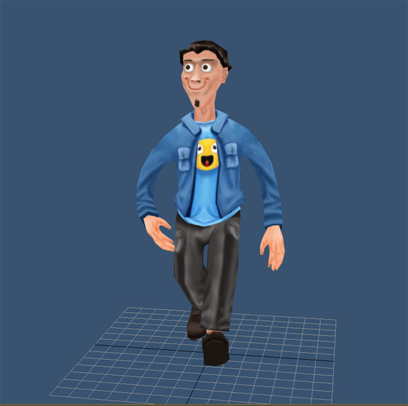 3DOcean Casual man low poly 7004865