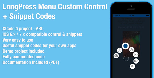 CodeCanyon LongPress Menu Custom Control & Snippet Codes 7004878