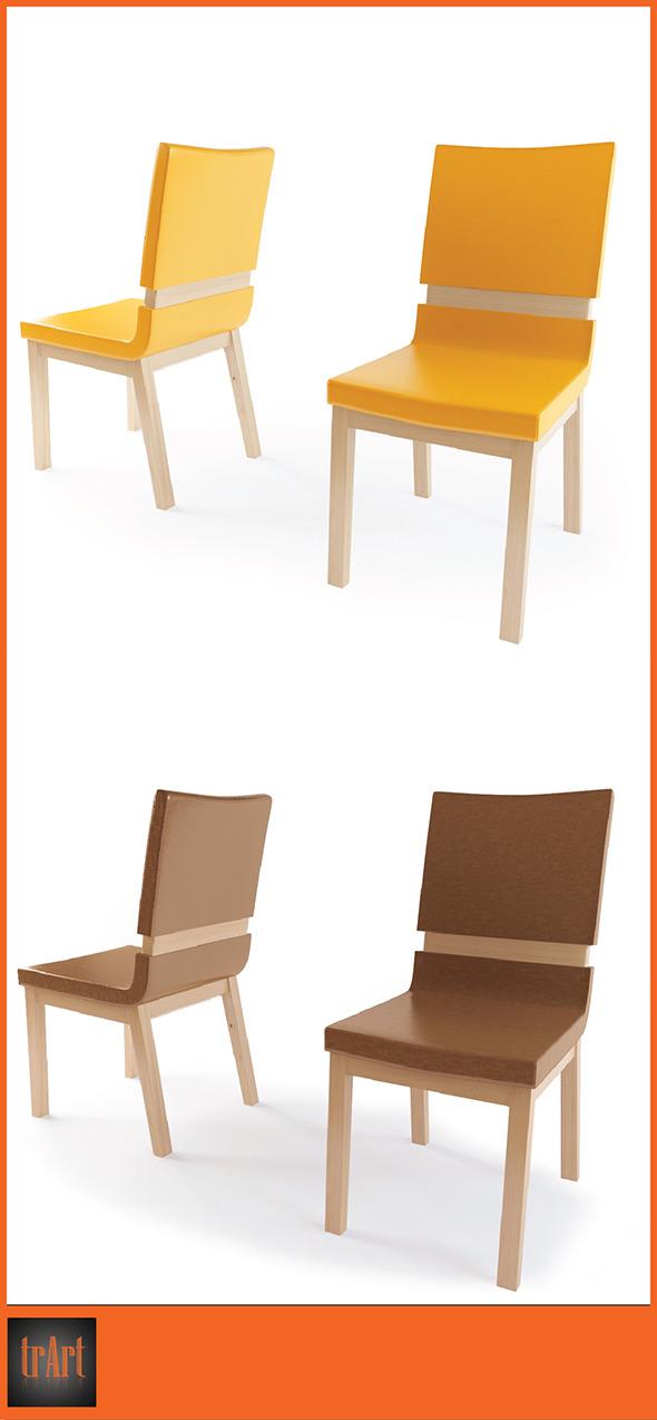 3DOcean Realistic Chair Armchair 7004979