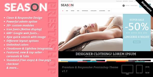 Season - Premium & Responsive Prestashop Theme