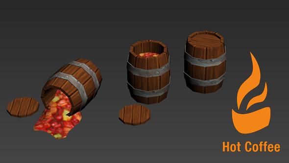 3DOcean Cartoony Barrels 7001288