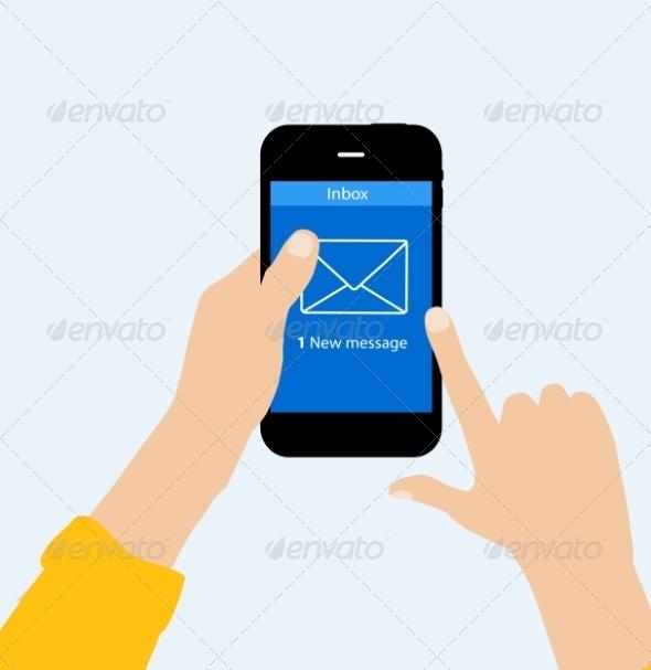 Inbox Mail Flat Concept