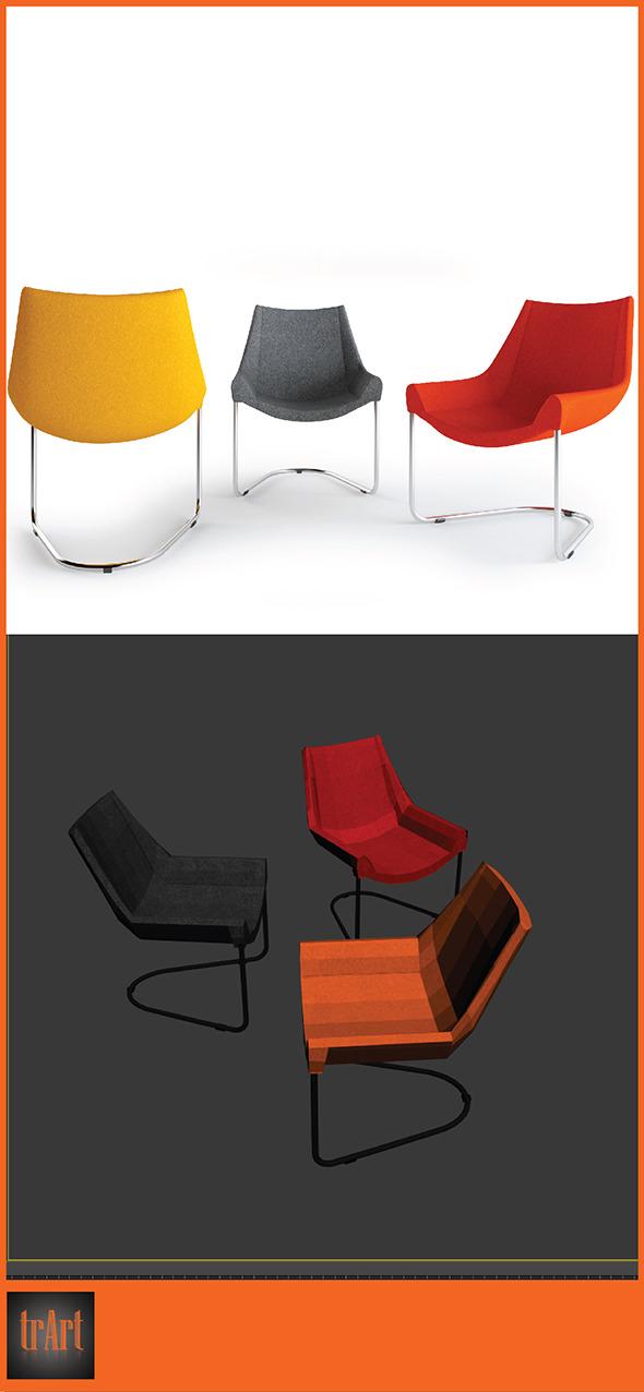 3DOcean Realistic Chair Armchair 7005227