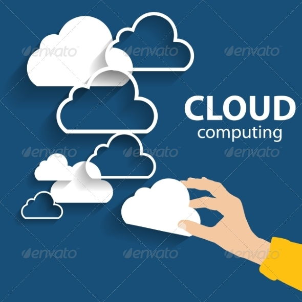 GraphicRiver Cloud Computing Concept on Different Electronic De 7005252
