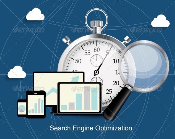 GraphicRiver SEO Search Engine Optimization Flat Icon 7005429