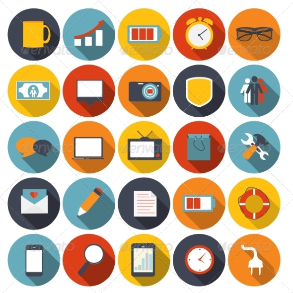 Mega Set of Flat Icons Vector Illustration