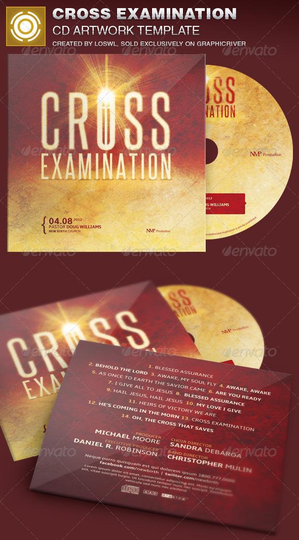 GraphicRiver Cross Examination CD Artwork Template 7005464