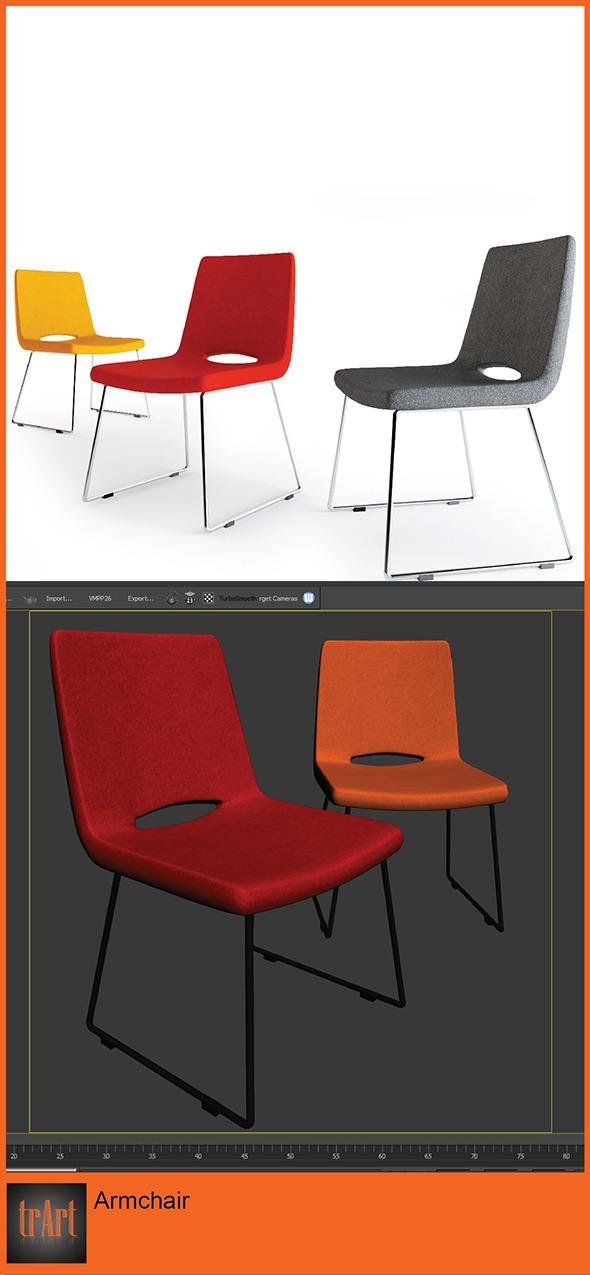 3DOcean Realistic Chair Armchair 7005475