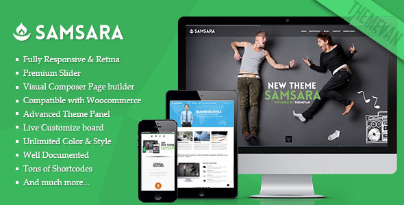 ThemeForest Samsara Creative Multi-Purpose WordPress Theme 7005550