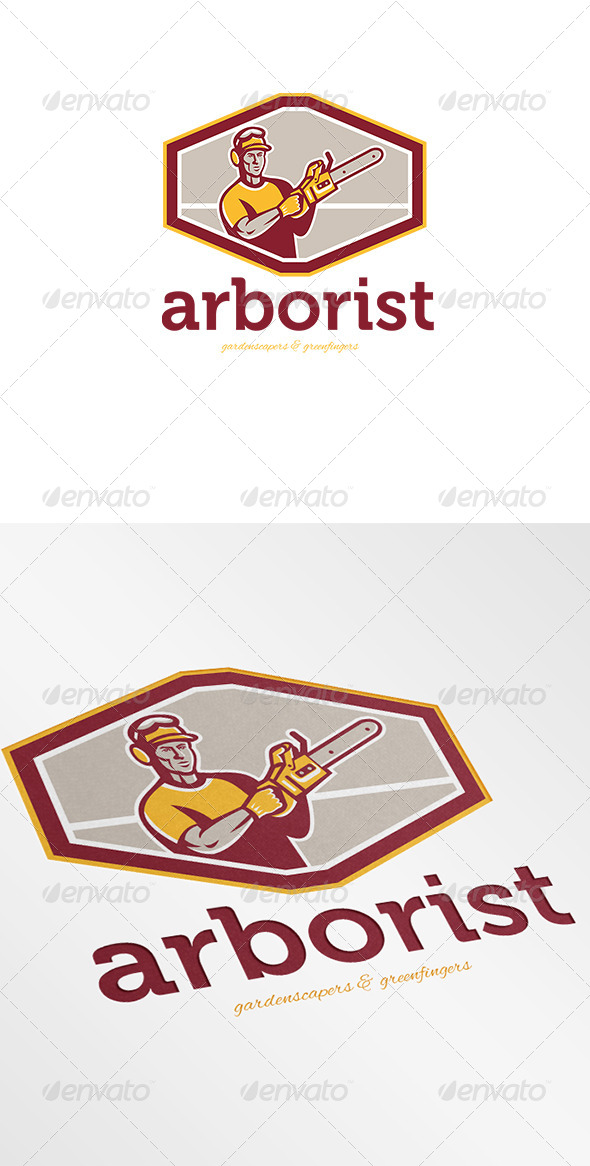GraphicRiver Arborist Gardenscapers and Greenfingers Logo 7005689