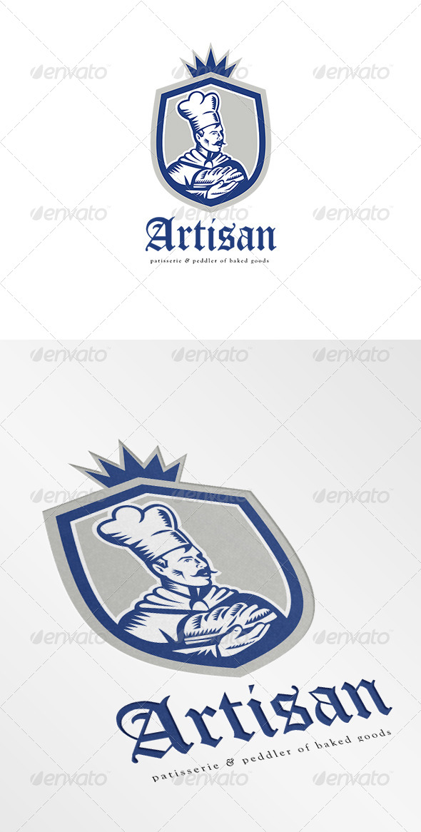 GraphicRiver Artisan Patisserie and Peddler of Baked Goods Logo 7005692