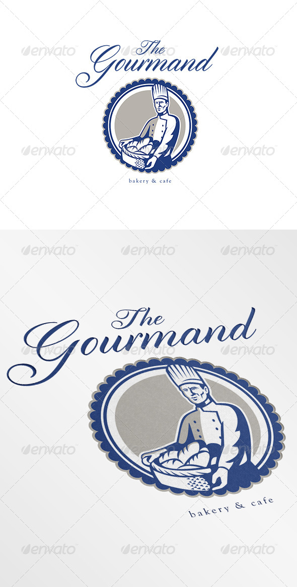 GraphicRiver The Gourmand Baker and Cafe Logo 7005719
