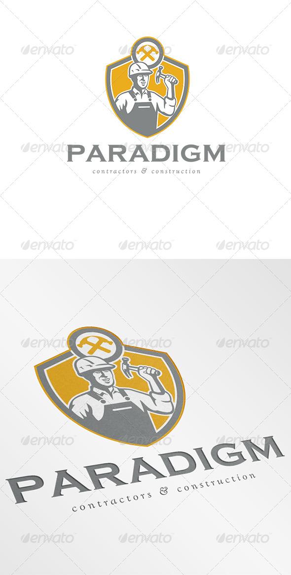 GraphicRiver Paradigm Contractors and Construction Logo 7005815