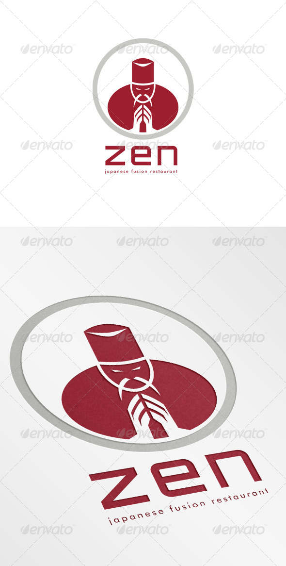 GraphicRiver Zen Japanese Fusion Restaurant Logo 7005847