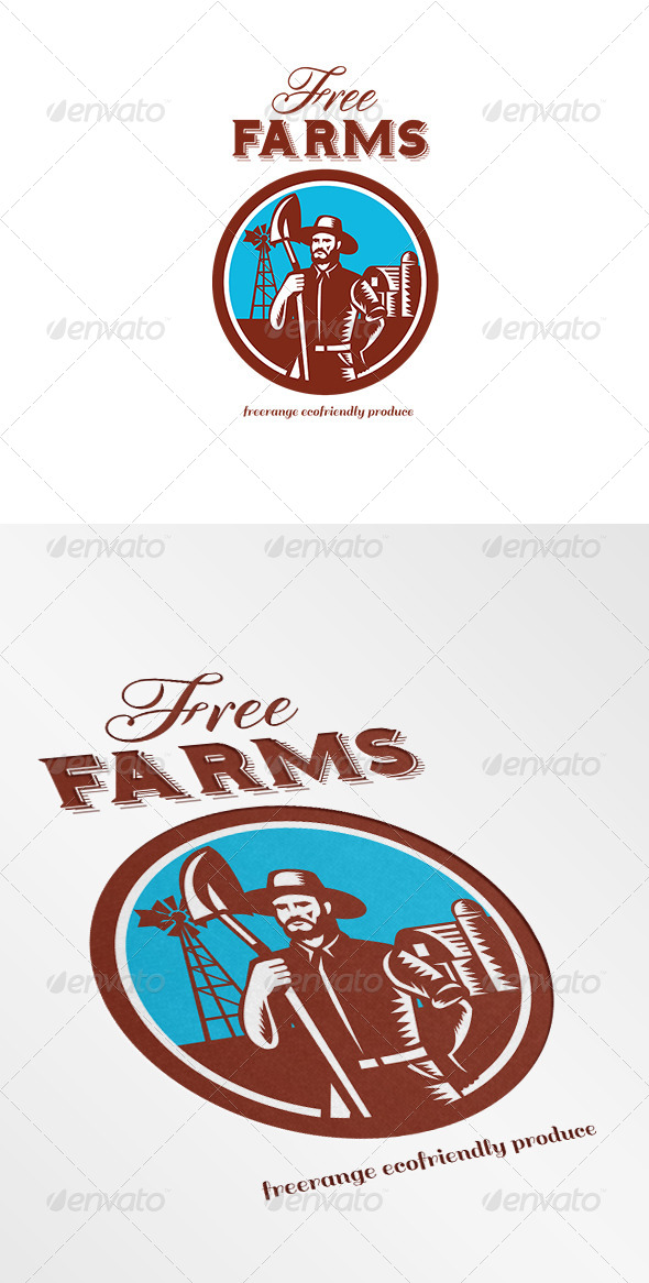 GraphicRiver Free Farms Freerange Ecofriendly Produce Logo 7005866